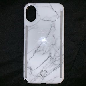 iPhone X/xs Lumee Duo case. Marble white